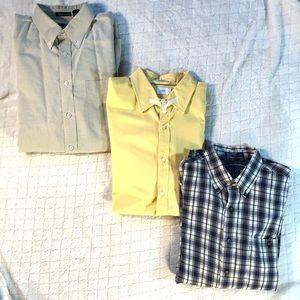 (3) button down/ casual shirt bundle lot/ Large